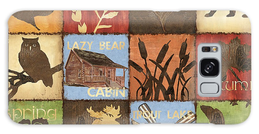 Lodge Galaxy Case featuring the painting Seasons Lodge by Debbie DeWitt