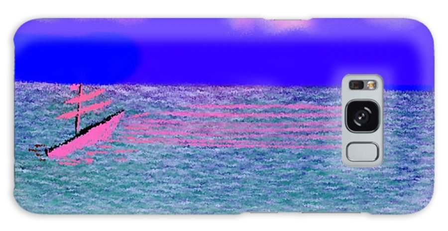 Early Evening Galaxy Case featuring the digital art Sea.sun by Dr Loifer Vladimir