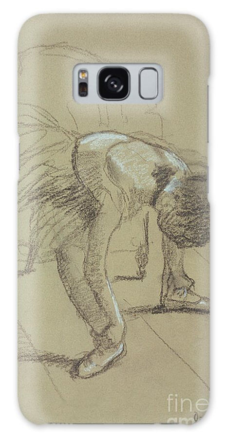 Female Galaxy S8 Case featuring the drawing Seated Dancer Adjusting Her Shoes by Edgar Degas