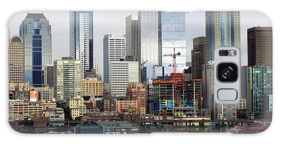 Seattle Galaxy S8 Case featuring the photograph Seattle Skyline by Ron Roberts