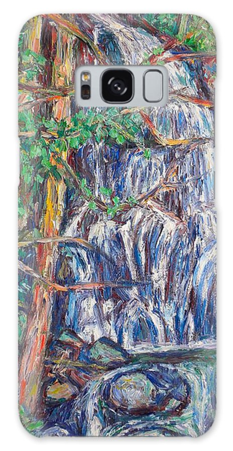 Waterfall Galaxy Case featuring the painting Secluded Waterfall by Kendall Kessler