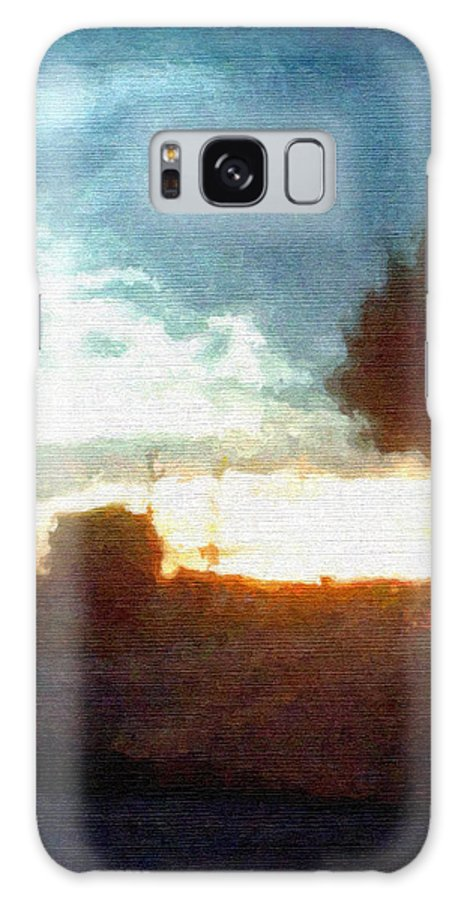 Abstract Sunset Galaxy S8 Case featuring the mixed media Second Sunset by Pharris Art