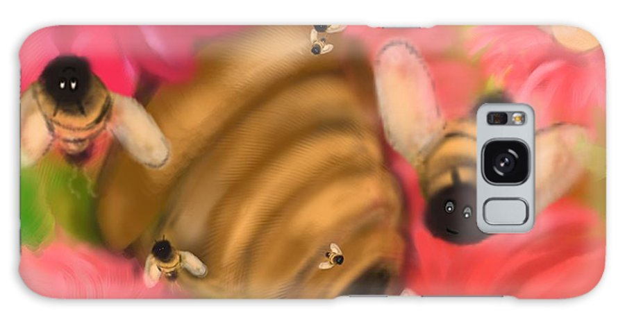 Bees Galaxy S8 Case featuring the digital art Secret Life Of Bees by Christine Fournier