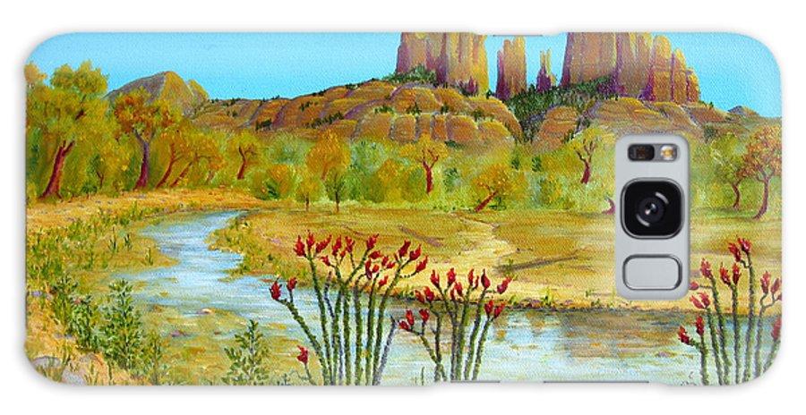 Sedona Galaxy S8 Case featuring the painting Sedona Arizona by Jerome Stumphauzer