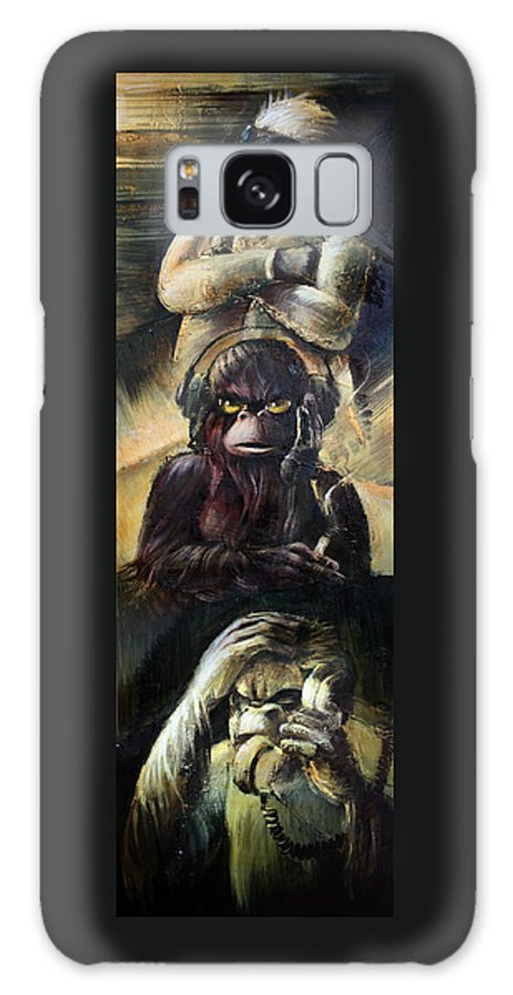 See No Evil Galaxy S8 Case featuring the painting See No by Vanessa Bates