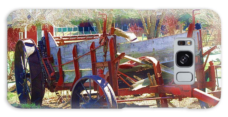 Wagon Galaxy S8 Case featuring the photograph Seen Better Days by Barbara McDevitt