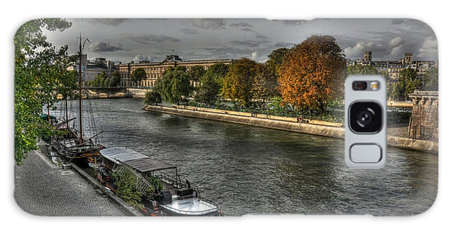 Paris Seine Galaxy S8 Case featuring the photograph Seine Study Number One by Michael Kirk