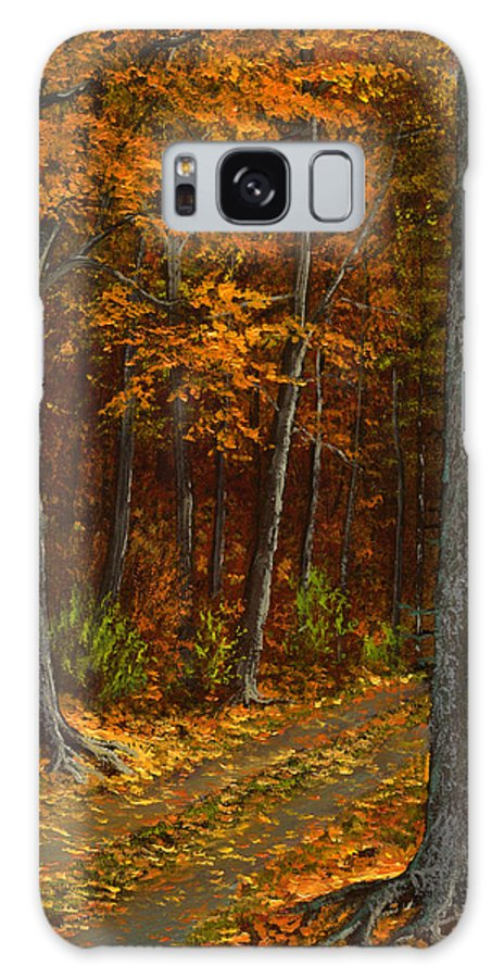 Landscape Galaxy S8 Case featuring the painting Seldom Used by Frank Wilson