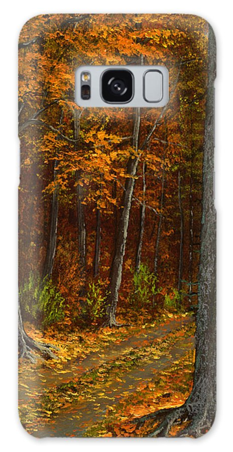 Landscape Galaxy Case featuring the painting Seldom Used by Frank Wilson