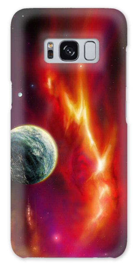 Sunrise Galaxy S8 Case featuring the painting Seleamov by James Christopher Hill