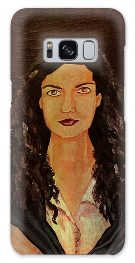 Painting Galaxy S8 Case featuring the painting Self Portrait 1 by Dimitra Papageorgiou