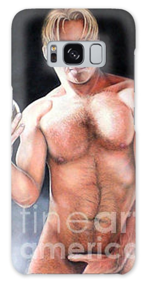 Nude Galaxy S8 Case featuring the drawing Self Portrait by AriesArtist Com