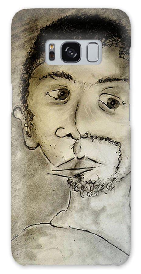 Self-portrait Galaxy S8 Case featuring the drawing Self-portrait by Jose A Gonzalez Jr