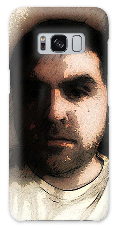 Galaxy S8 Case featuring the digital art Self Portrait by Jose Benavides
