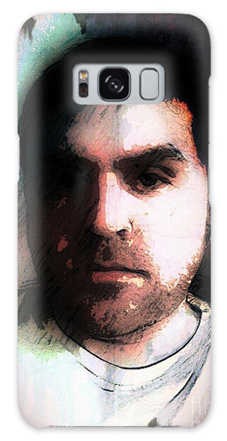 Galaxy S8 Case featuring the digital art Self Portrait Metal by Jose Benavides