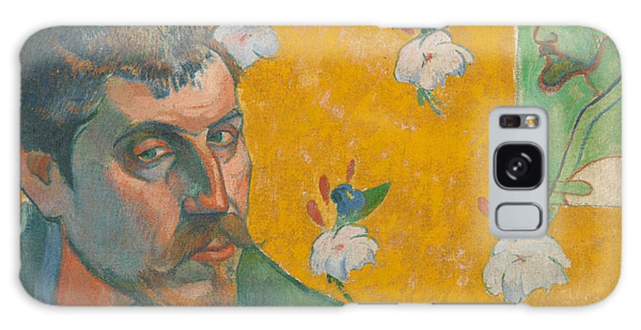 Paul Gauguin Galaxy S8 Case featuring the painting Self-portrait With Portrait Of Bernard. Les Miserables. by Paul Gauguin
