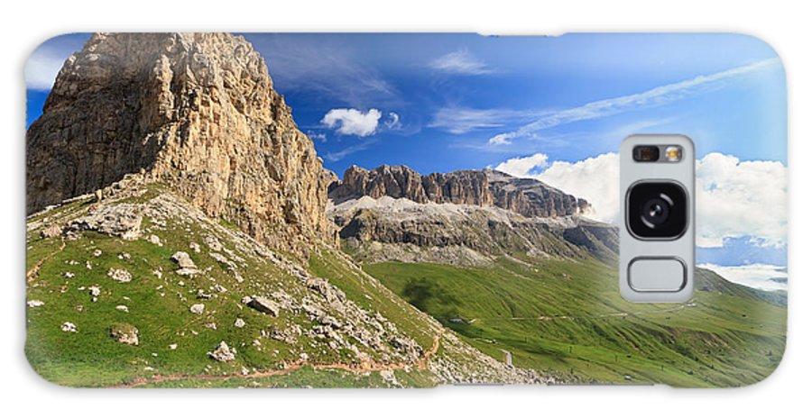 Alpine Galaxy S8 Case featuring the photograph Sella Mountain And Pordoi Pass by Antonio Scarpi