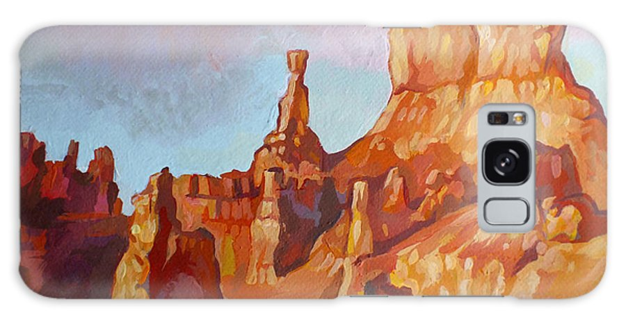 Sentinel Galaxy S8 Case featuring the painting Sentinel - Bryce Canyon by Filip Mihail