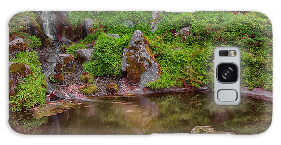 Seattle Galaxy S8 Case featuring the photograph Serene Garden Pond by Jonah Anderson
