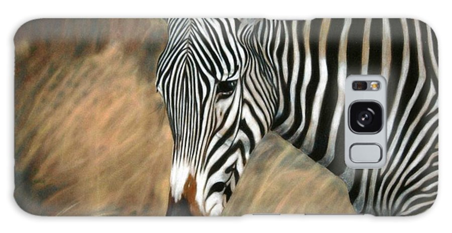 Children's Rooms Galaxy S8 Case featuring the painting Serengeti Zebra by Carol McCarty