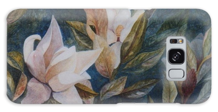Magnolias; Humming Bird Galaxy S8 Case featuring the painting Serenity by Ben Kiger