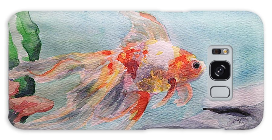 Goldfish Galaxy S8 Case featuring the painting Serenity by Breanna Moran