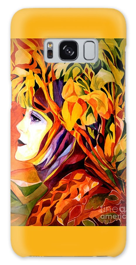 Spring Galaxy Case featuring the painting Serenity by Carolyn LeGrand