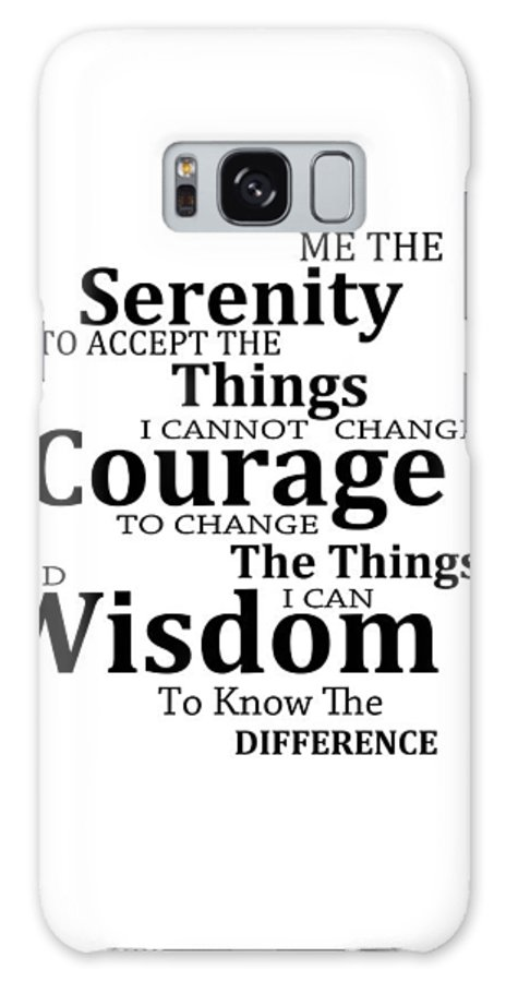 Serenity Prayer 6 - Simple Black And White Galaxy S8 Case for Sale by  Sharon Cummings 40e5937c03068