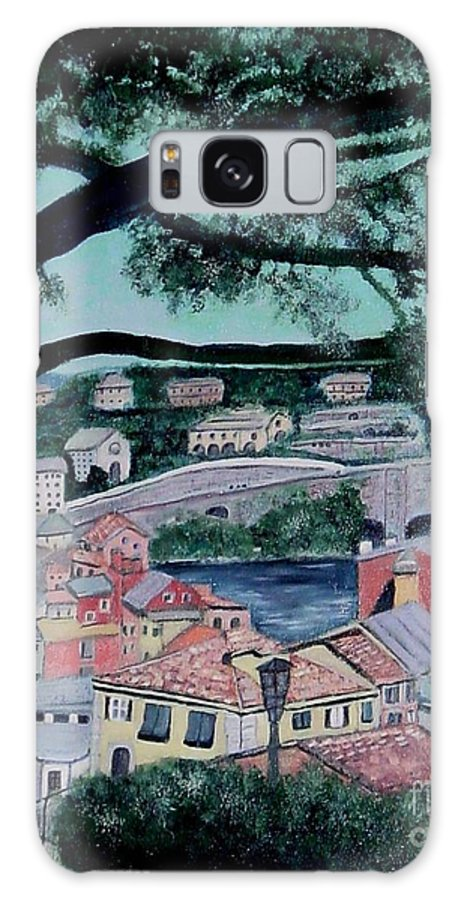 Italy Galaxy Case featuring the painting Sestri Levante by Laurie Morgan