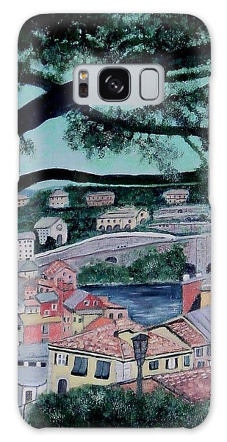 Italy Galaxy S8 Case featuring the painting Sestri Levante by Laurie Morgan