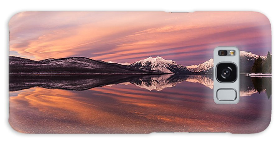 Sunset Galaxy S8 Case featuring the photograph Setting On Glacier by Aaron Aldrich