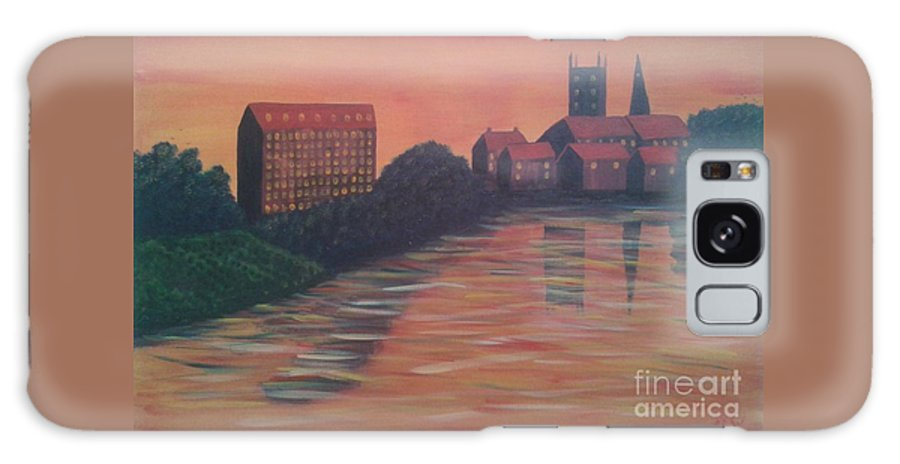 Severn Sunset Galaxy S8 Case featuring the painting Severn Sunset by John Williams