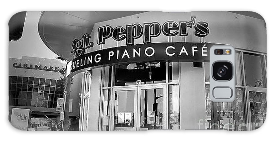 Galaxy S8 Case featuring the photograph Sgt. Peppers Piano Cafe Greeting Card by Amy Delaine