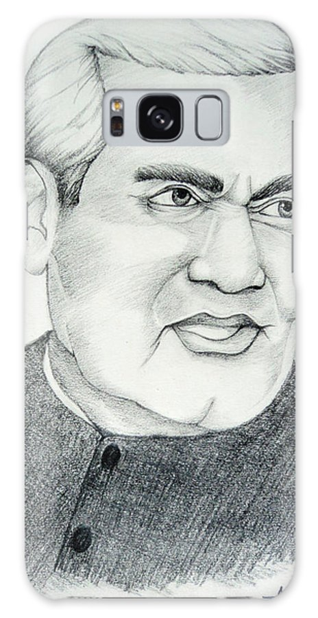 Politics Galaxy S8 Case featuring the drawing Atal Bihari Vajpayee by Archit Singh