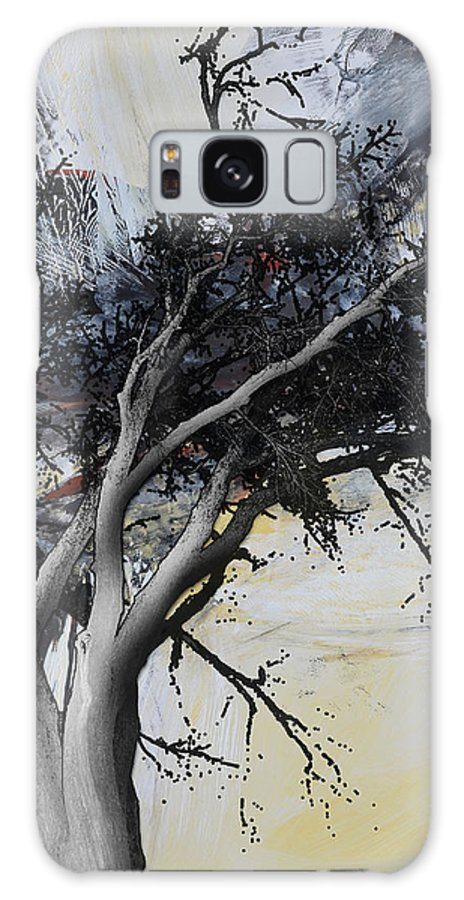 Black And White Abstract Galaxy S8 Case featuring the painting Shadows 1 by Andrada Anghel