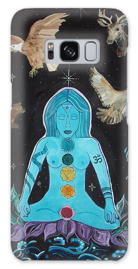 Shaman Galaxy S8 Case featuring the painting Shaman by Michelle Grove