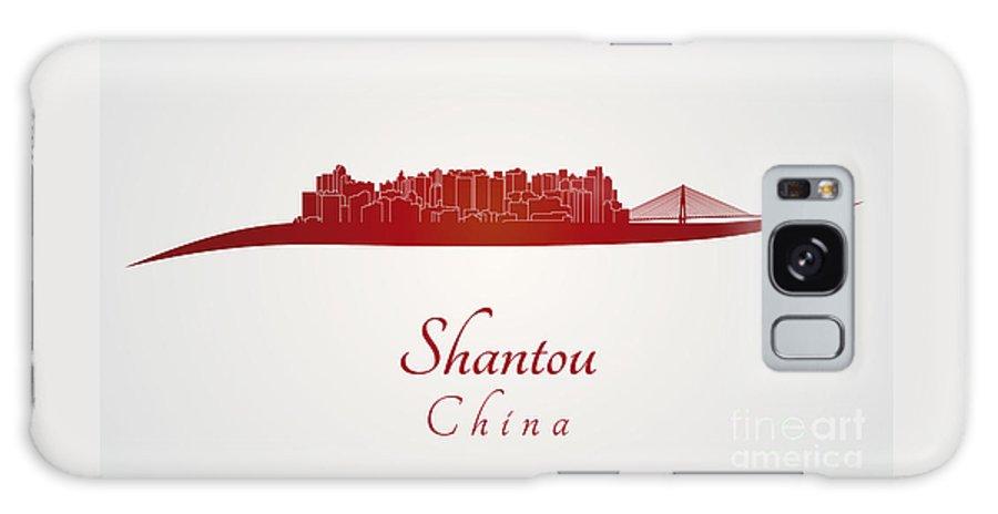 Shantou Skyline Galaxy S8 Case featuring the digital art Shantou Skyline In Red by Pablo Romero