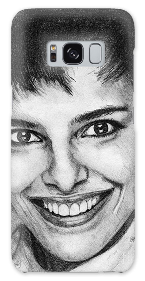 Mccombie Galaxy S8 Case featuring the drawing Shari Belafonte In 1985 by J McCombie
