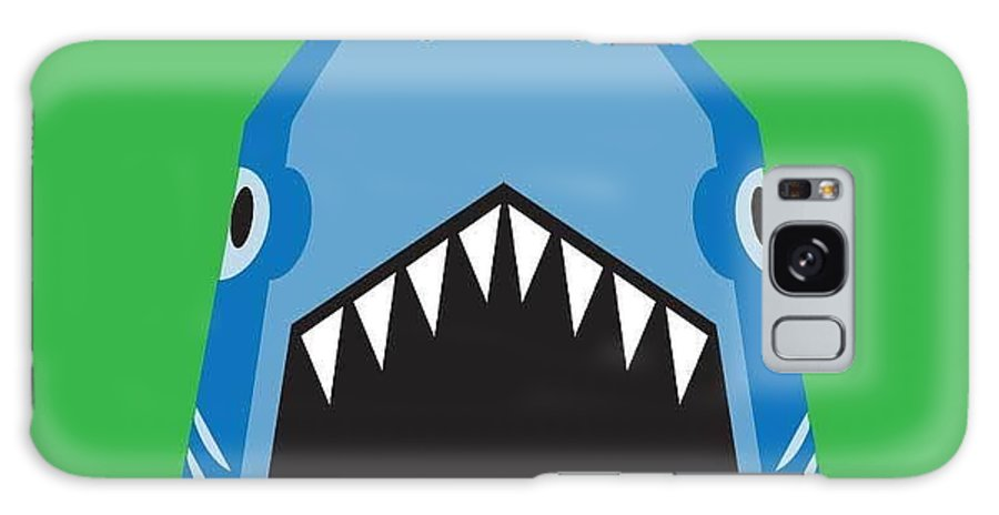 Big Galaxy S8 Case featuring the digital art Shark Illustration, T-shirt Graphics by Syquallo