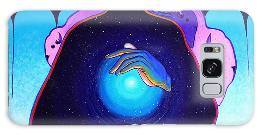 Spiritual Galaxy Case featuring the painting She Carries The Spirit by Joe Triano