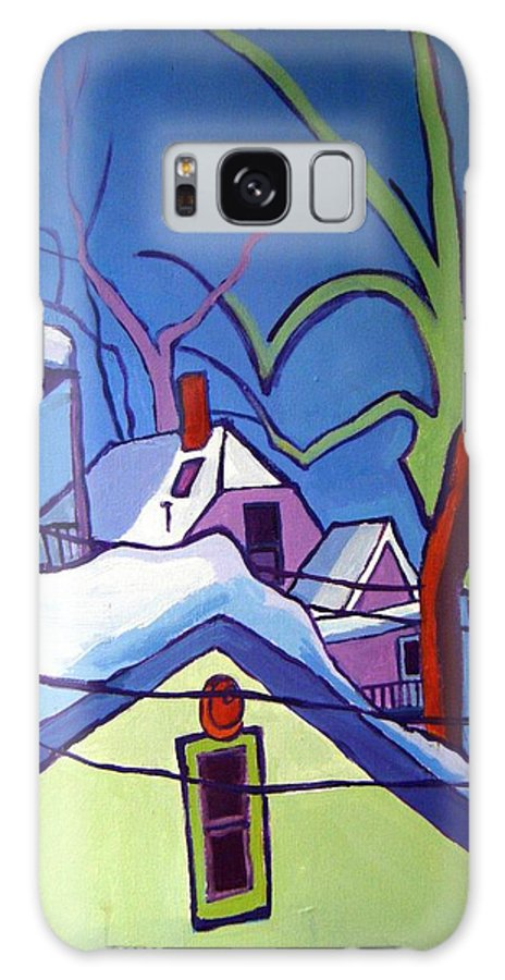 Buildings Galaxy S8 Case featuring the painting Sheffield Winter by Debra Bretton Robinson