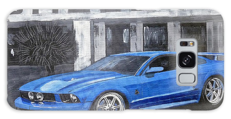 Shelby Galaxy S8 Case featuring the painting Shelby Mustang by Richard Le Page