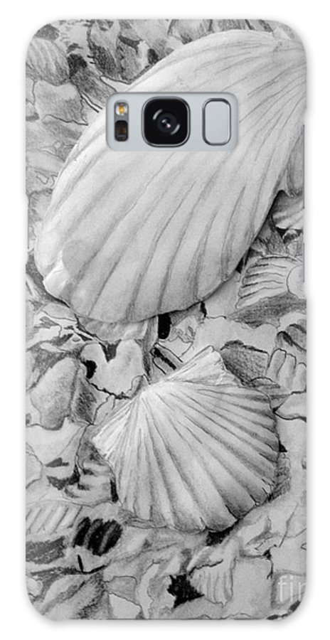 Pencil On Paper Galaxy S8 Case featuring the drawing Shells One by Diane Phelps