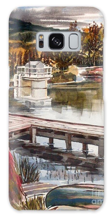 Shepherd Mountain Lake In Twilight Galaxy Case featuring the painting Shepherd Mountain Lake In Twilight by Kip DeVore