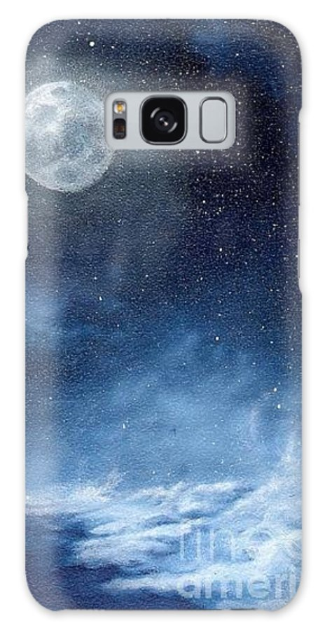 Cosmos Galaxy Case featuring the painting Shimmer by Murphy Elliott