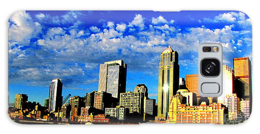 Architecture: Ron Tackett Galaxy S8 Case featuring the photograph Shiny Seattle by Ron Tackett