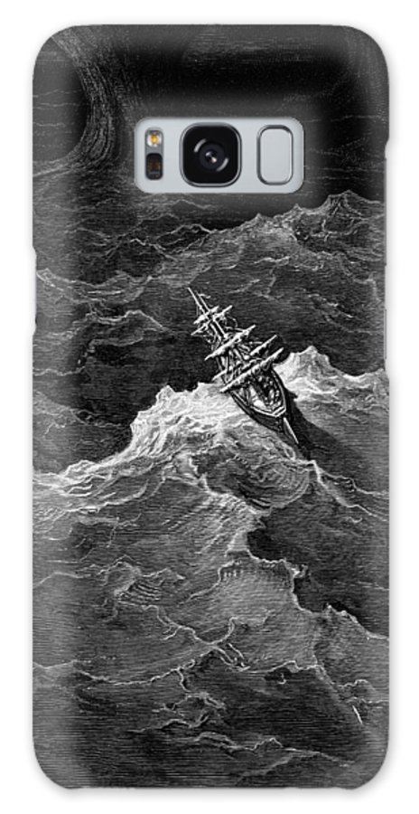 Storm; Rough; Vessel; Waves Galaxy S8 Case featuring the drawing Ship In Stormy Sea by Gustave Dore