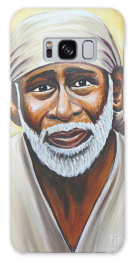 Shirdi Sai Baba Galaxy S8 Case featuring the painting Shirdi Sai Baba by Gayle Utter