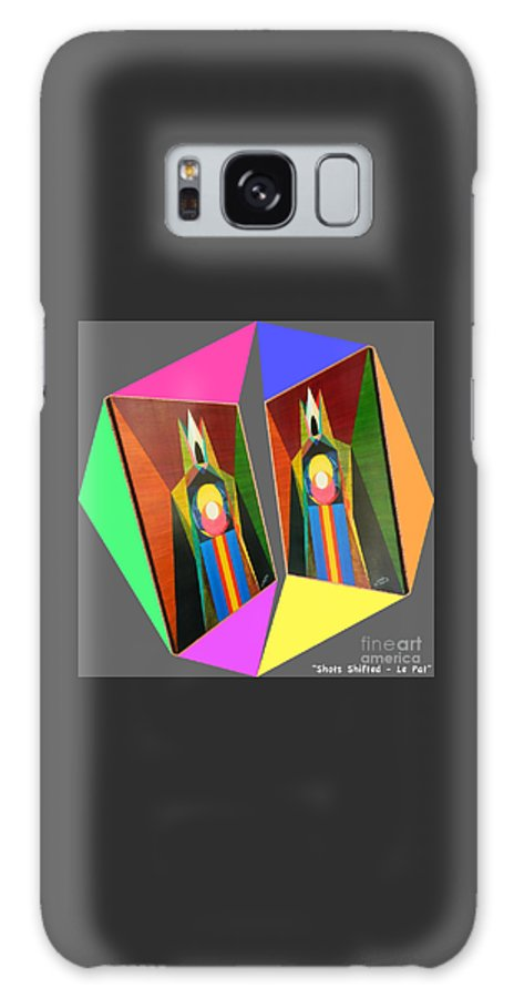 Modernism Galaxy S8 Case featuring the painting Shots Shifted - Le Pat 7 by Michael Bellon