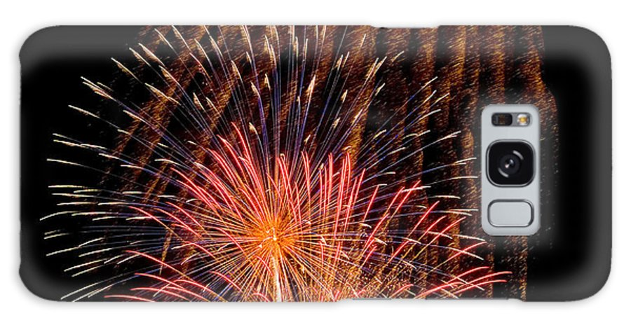Fireworks Galaxy S8 Case featuring the photograph Shower Of Fireworks by Devinder Sangha